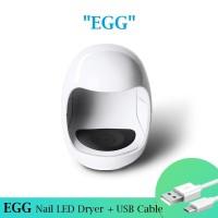 """Readystock LED Lamp (Pengering Kutek) Gel Nail Dryer """"EGG"""" Shape + USB"""