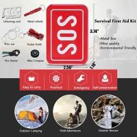 Alat Set Survival Camping Mendaki Pramuka 6 in 1 Portable