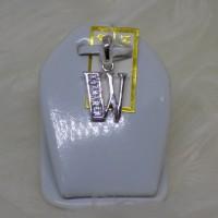 liontin/gandulan kalung emas putih huruf W mas 75%