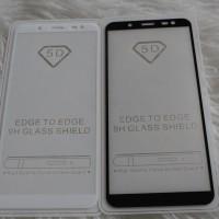 5D Full Tempered Glass SAMSUNG J6 2018 Tempered Glass Color Full
