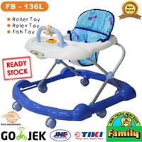 (GOSEND) FAMILY Baby Walker 136 L Biru & Pink | Alat Bantu Jalan Bayi