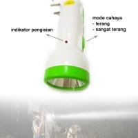 Senter VDR V-1619 / Senter LED jarak 100 meter, bisa isi ulang