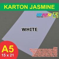Kertas Karton Jasmine A5 - WHITE
