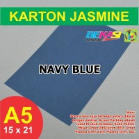 Kertas Karton Jasmine A5 - NAVY BLUE