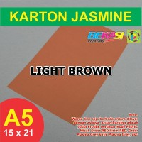 Kertas Karton Jasmine A5 - LIGHT BROWN
