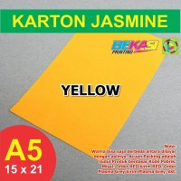 Kertas Karton Jasmine A5 - YELLOW