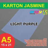 Kertas Karton Jasmine A5 - LIGHT PURPLE