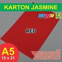 Kertas Karton Jasmine A5 - RED MATADOR