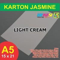 Kertas Karton Jasmine A5 - LIGHT CREAM