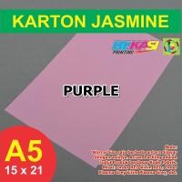 Kertas Karton Jasmine A5 - PURPLE
