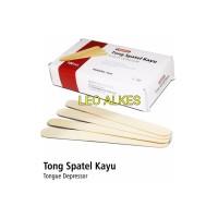 Tong Spatel Kayu isi 100. Tongue Spatel Kayu. Spatel Lidah