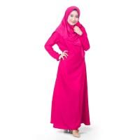 Muslimore - Baju Muslim Gamis Murah Pink Fanta Polos Balotelli XNB-05