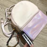 Ck Backpack Hologram Original = WARNA PINK, HOLO SILVER, BLACK