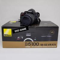 Nikon DSLR D5100 18-55 VR Kit + Nikon Lens AFS 55-300 (Second/bekas)