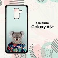 Casing Samsung Galaxy A6 Plus 2018 Custom HP Koala Hawaii LI0220