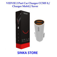 VIDVIE 2 Port Car Charger CC505 S / Charger Mobil / Saver