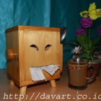 Tempat tissue sendok / tempat tisu murah / tempat tisu kayu murah