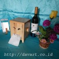 tempat tisu kayu / tempat tisu / tempat tisu murah