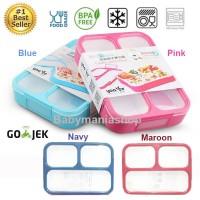 Kotak Makan Lunch Box Yooyee 3 Sekat / Grid Leak Proof / Anti Bocor
