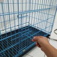Kandang besi lipat untuk kucing/anjing/kelinci/monyet/ayam (Go send)