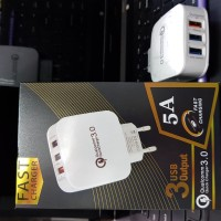 Travel Charger Qualcomm 3 Usb Output Fast Charging