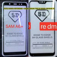 A4 2018 Samsung FULL GLUE 5D Tempered Glass Warna Anti Gores Kaca Hp