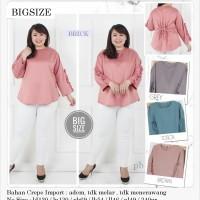 Blouse Jumbo Baju Atasan Wanita Big Size Ukuran Besar FL777