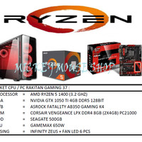 PAKET CPU / PC RAKITAN GAMING 37 /AMD RYZEN 1400 (3.2 GHZ)/ RAM 8GB