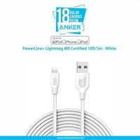 Anker PowerLine+ Lightning Mfi Certified 10ft/3m - White [A8123H21]