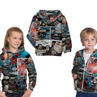 jaket anak superman komik fullprint sublimation
