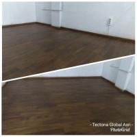 Flooring / parket / lantai kayu jati solid warna walnut