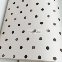 Kertas Kado Hitam Putih Polkadot Wrapping Paper