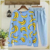 Harga baju busana pakaian wanita setelan banana babytery m | Pembandingharga.com