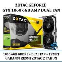 VGA Card Zotac PCIE GTX 1060 6GD5 AMP! Edition - Resmi