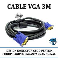 Kabel VGA 3meter Gold (Original Resmi)