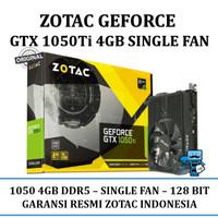 VGA Card Zotac PCIE GTX 1050TI 4G DDR5 Single Fan - Original Resmi