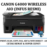 Printer Canon Pixma G4000 Wireless All-In-One w/ ADF&Fax (Infus Resmi)