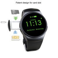 Kingwear KW18 Smartwatch Bluetooth IOS Android + SIM CARD Slot - Hitam