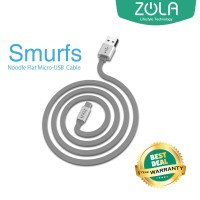 Kabel Data Micro Usb Zola Smurf 150Cm Fast Charging 2,1A - Grey