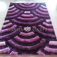 Karpet shaggy bulu tebal motif menarik