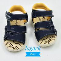 sepatu sendal anak 1 2 3 tahun bunyi size 22-25 motif corak hitam SGCH