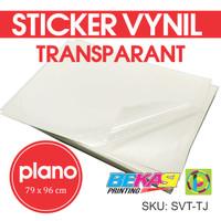 Sticker Vynil Transparan / Stiker Bening / Transparant Uk PLANO SVT-TJ