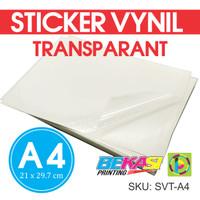 Sticker Vynil Transparan / Stiker Bening / Transparant Ukuran A4