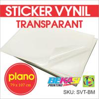 Sticker Vynil Transparan / Stiker Bening / Transparant Uk PLANO SVT-BM