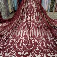 Kebaya Batik Wanita Tulle/Tille Elie Saab Kain-Bahan Gaun, Dre AGC2953