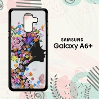 Casing Samsung Galaxy A6 Plus 2018 Custom HP Woman Flower LI0202