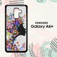 Casing Samsung Galaxy A6 Plus 2018 Custom HP Woman Flower LI0202