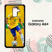 Casing Samsung Galaxy A6 Plus 2018 Custom HP Neymar From Brazil L2618
