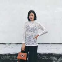 Blouse - White Spring Lace (Size M) - 783054