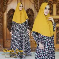 Gamis kamila dress matt katun jepang original HQ set hijab